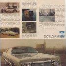 1972 CHRYSLER NEWPORT CAR MAGAZINE AD  (50)