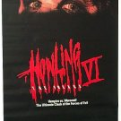 HOWLING VI THE FREAKS with MICHELLE MATHESON & B. HUGHES 1990 ONE SHEET MOVIE POSTER # 72 NEAR MINT