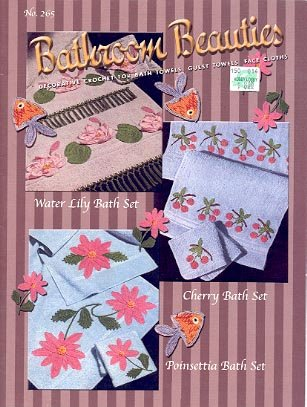 BATHROOM BEAUTIES DECORATIVE CROCHET FOR BATH TOWELS CRAFT BOOK NEW