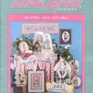 BUNNIES BEES AND ABCs COUNTED CROSS STITCH BOOKLET by ALMA LYNNE DESIGNS 1989 CRAFT BOOK NEAR MINT