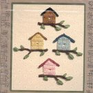 THE CITY STITCHER CROCHET COLLECTION LEAFLET BIRDHOUSE PIN  by JANET MILLER CRAFT BOOK NEW