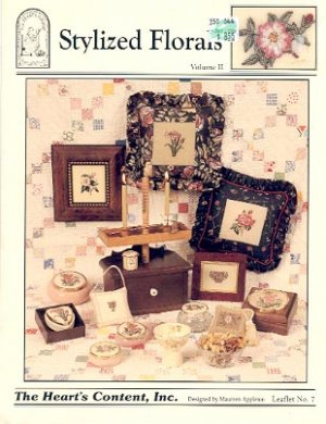 STYLIZED FLORALS CROSS STITCH LEAFLET by MAUREEN APPLETON HEARTs CONTENT CRAFT BOOK  NEW