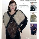 KUSTOM KRAFTS CASUAL TO CHIC EASY CROCHET WRAPS & SHAWLS BOOKLET by DYAN ALLAIRE CRAFT BOOK