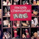 MERRY CHRISTMAS A B C CROSS STITCH by LEISURE ARTS CRAFT HARDBACK BOOK MINT