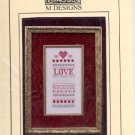 A LITTLE LOVE SAMPLER CROSS STITCH LEAFLET by M DESIGNS CRAFT BOOK  NEW