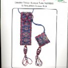 NEEDLE & FRAME MULBERRY BEADED SCISSOR CASE & FOB  CRAFT KIT  NEW
