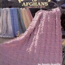 RAINBOW OF AFGHANS 6 DESIGNS TO KNIT & CROCHET by SANDY SCOVILLE 1992 CRAFT BOOK MINT