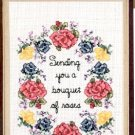 SANDI PHIPPS KEEPSAKE CARD SET BOUQUET OF ROSES CROSS STITCH LEAFLET CRAFT BOOK NEW