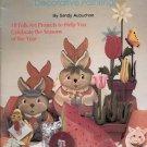 SEASONS OF FOLK ART 18 DECORATIVE PAINTING ACRYLIC SEASONAL PROJECTS  BOOKLET 1985 CRAFT BOOK