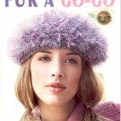 LEISURE ARTS FUR A GO-GO 7 EACH KNIT DESIGNS - HATS BAGS SCARVES CRAFT BOOK NEW