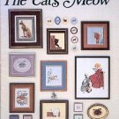 THE CATs MEOW CROSS STITCH BOOKLET by STEPHANIE SEABROOK HEDGEPATH 1986 CRAFT BOOK NEAR MINT