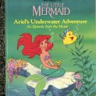 THE LITTLE MERMAID ARIEL'S UNDERWATER ADVENTURE 1989 LITTLE GOLDEN BOOK CHILDREN'S HARDBACK V-GOOD
