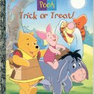 POOH  TRICK OR TREAT 1ST EDITION A LITTLE GOLDEN BOOK 1997 CHILDREN'S HARDBACK BOOK VERY GOOD