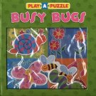 BUSY BUGS by ACITVE MINDS CHILDREN'S HARDBOARD PLAY A PUZZLE BOOK NEW