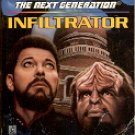 STAR TREK - THE NEXT GENERATION # 42 INFILTRATOR BY W.R. THOMPSON 1996 PAPERBACK BOOK NEAR MINT
