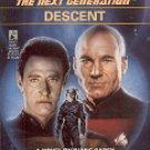 STAR TREK - THE NEXT GENERATION DESCENT BY DIANE CAREY 1993 PAPERBACK BOOK NEAR MINT