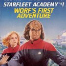 STAR TREK - THE NEXT GENERATION STARFLEET ACADEMY #1 WORF'S FIRST ADVENTURE PAPERBACK BOOK V/GOOD