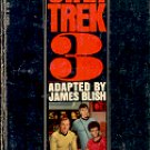 STAR TREK 3 by JAMES BLISH 1973 PRINTING PAPERBACK BOOK VERY GOOD CONDITION