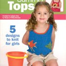 LEISURE ARTS 5 FUN SUMMER TOPS TO KNIT FOR GIRLS BOOKLET CRAFT BOOK NEW