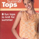 LEISURE ARTS   8  SIZZLING SUMMER TOPS TO KNIT BOOKLET CRAFT BOOK NEAR MINT