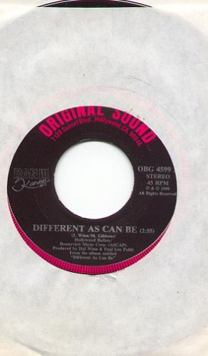 DIFFERENT AS CAN BE & SO CLOSE 1990 ORIGINAL SOUND RECORDS 45 RPM RECORD # 107 MINT