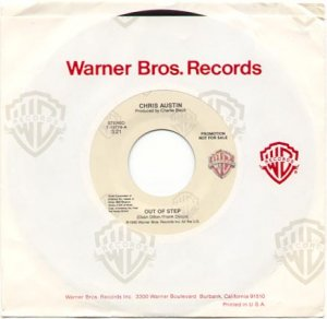 OUT OF STEP by CHRIS AUSTIN 1990 WARNER BROS. RECORDS 45 RPM PROMOTION RECORD #114 MINT