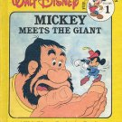 MICKEY MEETS THE GIANT by WALT DISNEY FUN TO READ LIBRARY VOL #1 CHILDREN'S HARDBACK BOOK VERY GOOD