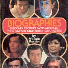 STAR TREK II BIOGRAPHIES by WILLIAM ROTSLER PAPERBACK BOOK 1982 VERY GOOD