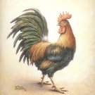 2001 PRINT #22:  RIGHT FACING ROOSTER  8 X 10 MINT