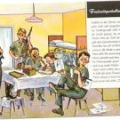 GERMAN FANTASY MILITARY CARTOON POSTCARD # 11 UNUSED MINT