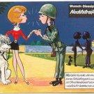 GERMAN FANTASY MILITARY CARTOON POSTCARD # 21 UNUSED MINT