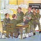 GERMAN FANTASY MILITARY CARTOON POSTCARD # 32 UNUSED MINT