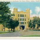 SALLY PORT ENTRANCE TO QUADRANGLE ROSWELL NM. MILITARY INSTITUTE LINEN POSTCARD #25 UNUSED