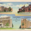 HOSPITALS of LOUISVILLE KENTUCKY  #2B-H923 LINEN POSTCARD #42 USED IN 1947