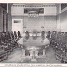 GOVERNING BOARD ROOM PAN AMERICAN UNION BUILDING BLACK & WHITE POSTCARD #57 UNUSED