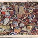 HEART OF OKLAHOMA CITY OKLAHOMA LINEN POSTCARD #62 UNUSED