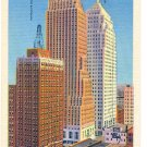 SKYSCRAPERS OKLAHOMA CITY OKLAHOMA LINEN POSTCARD #88 UNUSED
