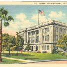 SUPREME COURT BUILDING TALLAHASSEE FLORIDA LINEN POSTCARD #92 UNUSED
