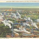 AIRPLANE VIEW OF NORTH CAPITOL OIL FIELD IN OKLAHOMA CITY OKLA. LINEN POSTCARD #98 UNUSED