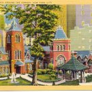 THE LITTLE CHURCH AROUND THE CORNER NEW YORK CITY LINEN POSTCARD #108 UNUSED