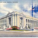 SHELBY COUNTY COURT HOUSE MEMPHIS TENNESSEE LINEN POSTCARD #118 UNUSED
