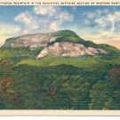 WHITESIDE MOUNTAIN IN BEAUTIFUL SAPPHIRE SECTION OF WESTERN NC. LINEN POSTCARD #128 USED 1950