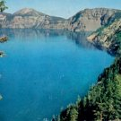 CRATER LAKE OREGON PICTURE POSTCARD #154 USED 1961