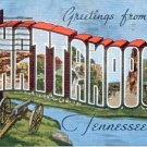 GREETINGS FROM CHATTANOOGA TENNESSEE LINEN POSTCARD #222 USED 1949