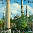 EGYPTIAN OBELISQUE & MINARETS OF BLUE MOSQUE ISTANBUL TURKEY COLOR PICTURE POSTCARD #284 UNUSED
