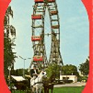 WIEN - (VIENNA) 2 THE BIG WHEEL IN THE PRATER COLOR PICTURE POSTCARD #293 UNUSED