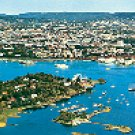 NORWAY PANORAMA - OSLO COLOR PICTURE POSTCARD #295 UNUSED