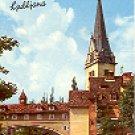 VIEW OF TOWN LJUBLJANA SLOVENIA YUGOSLAVIA COLOR PICTURE POSTCARD #314 UNUSED