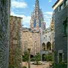 BARCELONA MUSEO MARES PATIO SPAIN COLOR PICTURE POSTCARD #346 UNUSED