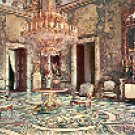 ROYAL PALACE - GASPARINI'S HALL MADRID SPAIN COLOR PICTURE POSTCARD #355 UNUSED